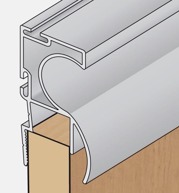 Edge and handle aluminium profiles